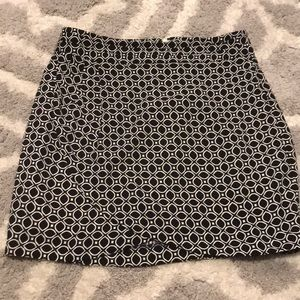 Navy Blue and White skirt from Banana Republic